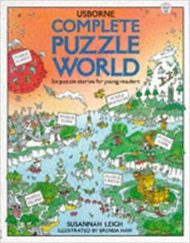 Book Complete Puzzle World: Puzzle Island/Puzzle Town/Puzzle Farm/Puzzle Castle/Puzzle Planet/Puzzle Mountain (Usborne Young Puzzles) by Leigh, Susannah (March 1, 1994)