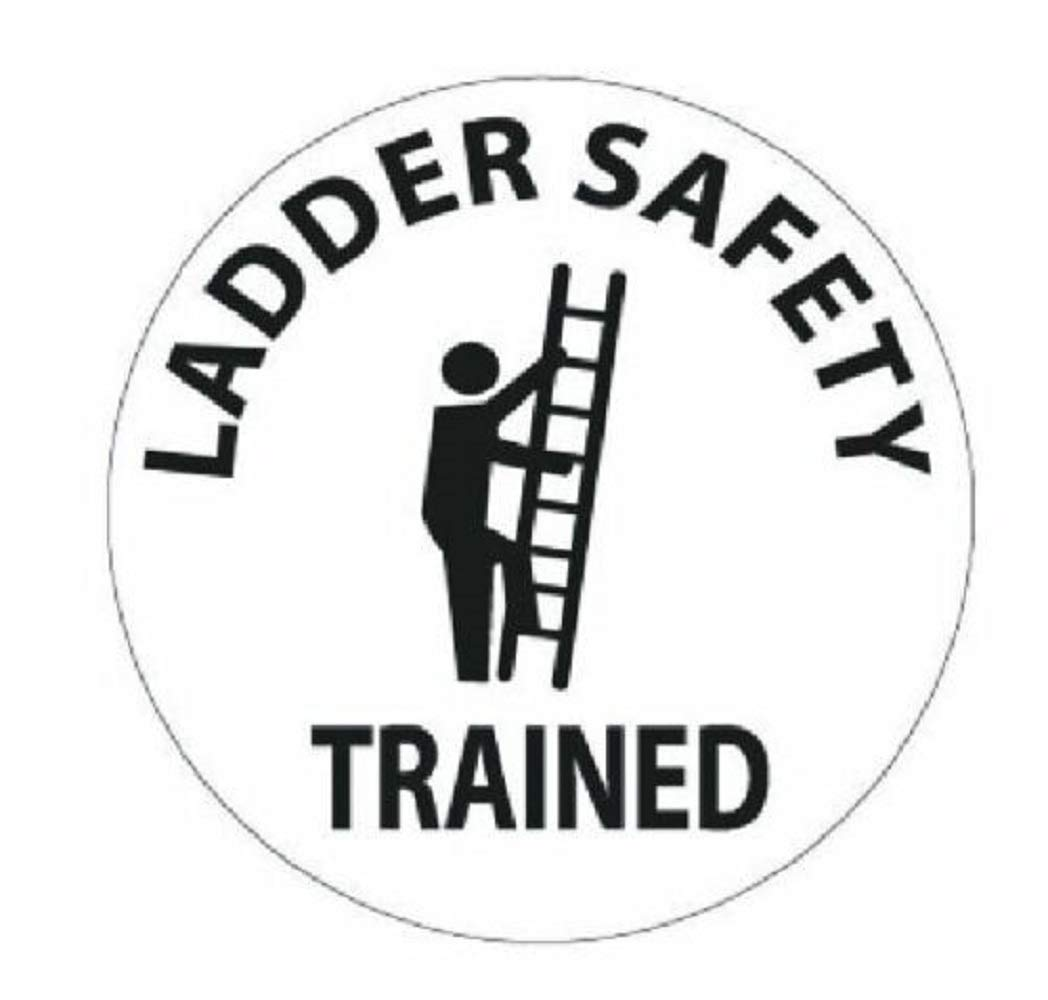 manda_ol 50 Pack 2'' inches Ladder Safety Trained Hard Hat Decal Hardhat Sticker Helmet Label