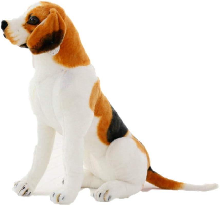 JINPU Gigante Peluche Gigante Grande Tamaño Beagle Perro Juguete Realista Animales Rellenos Perro Juguetes De Felpa Regalo para Niños Hogar Decoración Pet Store Promoción Mascota 40cm