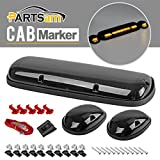 Partsam 3PCS Smoke Cover Amber 30 LED Cab Marker Roof Running Top Lights for 02-07 Chevy Silverado/GMC Sierra