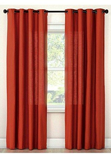 Threshold, One Curtain Panel, Dark Orange, 54