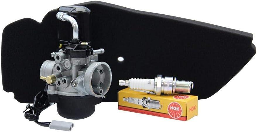 17 5mm Sport Vergaser Ysn Mit E Choke Von Citomerx Luftfilter Ngk Zündkerze B9es Piaggio Sfera Nsl Nsl 50 Ns8 80 Auto