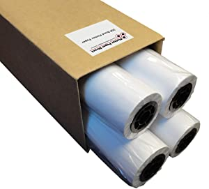 "Plotter Paper 36 x 150: Box of 4-36"" x 150 ft. Rolls, 20 lb. Bond Paper on 2"" Core. For CAD Printing on Wide Format Ink Jet Printers"