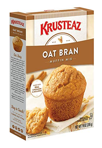(Krusteaz Oat Bran Muffin Mix, 14-Ounce Boxes (Pack of 12))