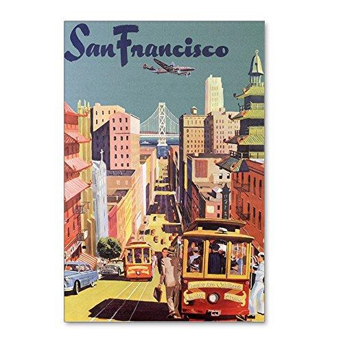 CafePress - Vintage Travel Poster San Francisco Postcards (Pac - Postcards (Package of 8), 6