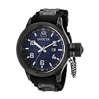Invicta Men's 0554 Russian Diver Collection Carbon Fiber Black Rubber Watch from Invicta