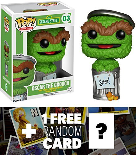 Oscar The Grouch: Funko POP! x Sesame Street Vinyl Figure + 1 FREE Official Sesame Street Trading Card Bundle [49102] (Puppet Simpsons Christmas Show)