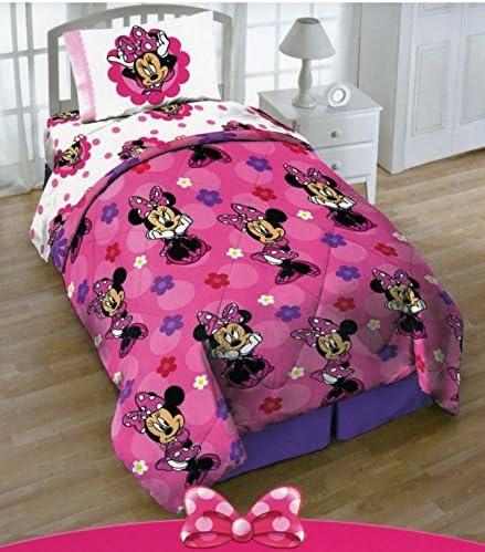 Amazon Com Disney Minnie Mouse Twin Sized Comforter Home Kitchen