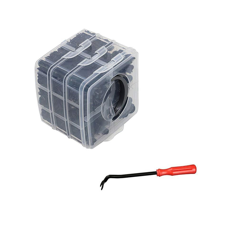 620Pcs Assortiti Carrozzerie in plastica Spingere fermo Pin Rivetto Elementi di fissaggio Trim Moulding Automotive Automotive Viti di espansione