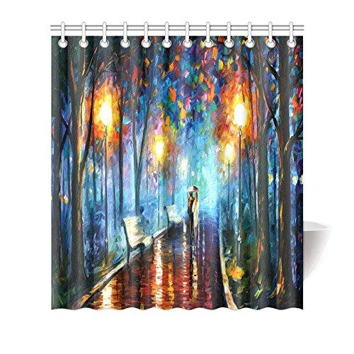 Vincent Van Gogh Painting Waterproof Bathroom decor Fabric Shower Curtain Polyester Fabric 66 x 72 ()