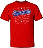 : MLB Philadelphia Phillies Team Signed T-Shirt, Large, Red