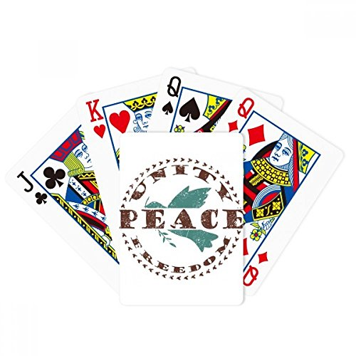 Olive Branch Peace Freedom Symbol Poker Playing Cards Tabletop Game Gift by beatChong