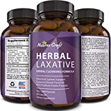 Natures Craft's Herbal Laxative Capsules with Probiotics - Natural Colon Detox Digestive Support System Clean - Psyllium Husk Powder Senna Leaf Cascara Sagrada - Triple Herb Cleanse Pills