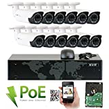 Cheap GW Security 16 Channel 4K NVR HD 1920P IP PoE Security Camera System with 12 Outdoor/Indoor 2.8-12mm Varifocal Zoom 5.0 Megapixel 1920P Cameras, QR Code Easy Setup, Free Remote View