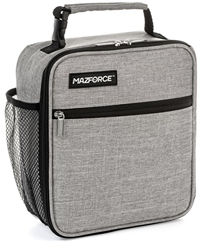 MAZFORCE Original Lunch Box Insulated Lunch Bag - Tough & Spacious Adult Lunchbox to Seize Your Day (Wolf Grey - Lunch Bags Designed in California for Men, Adults, Women) by MAZFORCE