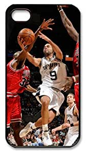 LZHCASE Personalized Protective Case for iPhone 4/4S - NBA, San Antonio Spurs Vs Chicago Bulls