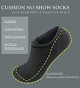 Women's Low Cut Running Cushion Sock 4/5/7/8 Pack Performance Comfort Hidden No Show Athletic Socks Arch Support