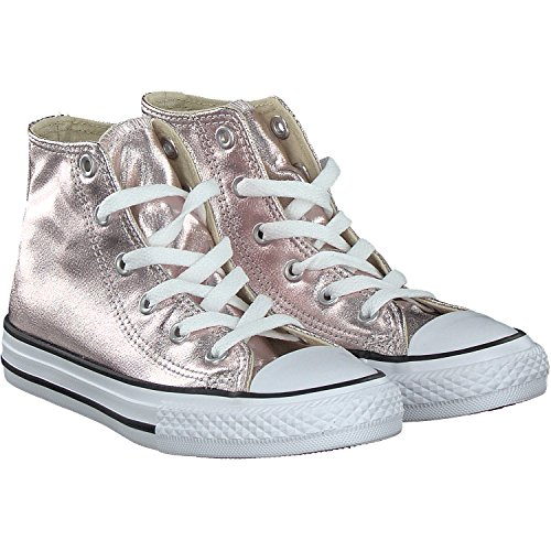 Converse Chuck Taylor All Star Hi Rose Quartz Textile Junior Trainers Rosa