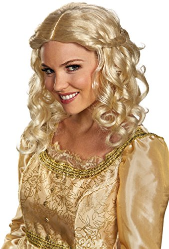 Party City Aurora Costume (Disguise Women's Disney Maleficent Movie Aurora Adult Costume Wig, Blonde, One Size)