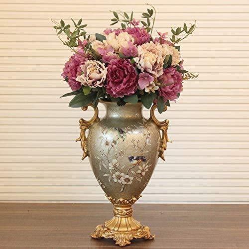 Mountain head ヨーロッパのレトロな脚の長い耳の花瓶アメリカの創造的な柔らかい装飾装飾工芸品樹脂の大きな花瓶 Mountain head (Size : B) B07QG147KB  B