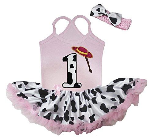 Petitebella Dress Cowgirl 1st Pink Halter Neck Bodysuit