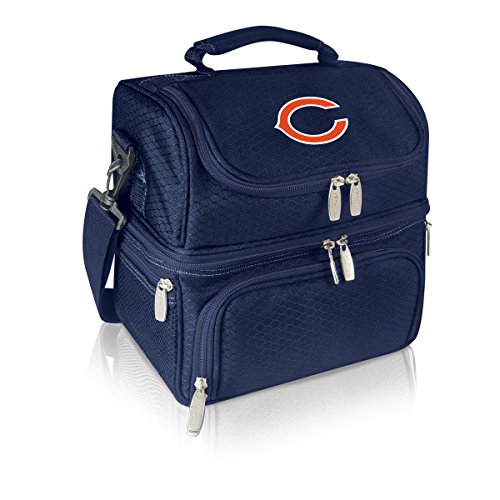 NFL Chicago Bears Pranzo Insulated Lunch Tote, Navy, 12 x 11 x 8-Inch (Chicago Bears Lunch Box compare prices)