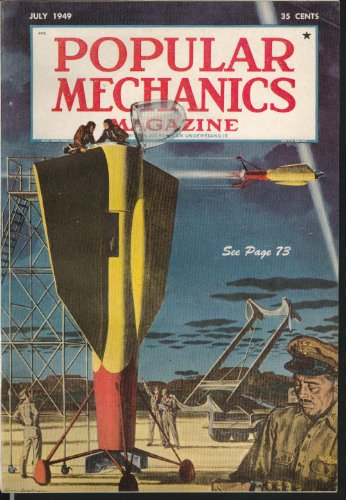 POPULAR MECHANICS Passenger Rocket Blueprint Venezuela Magnetic Mountain 7 1949