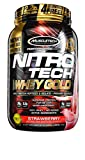 MuscleTech NitroTech Whey Gold, 100% Whey Protein Powder, Whey Isolate and Whey Peptides, Strawberry, 35.2 Ounce Review