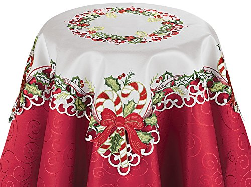 Candy Christmas Table Linens Square