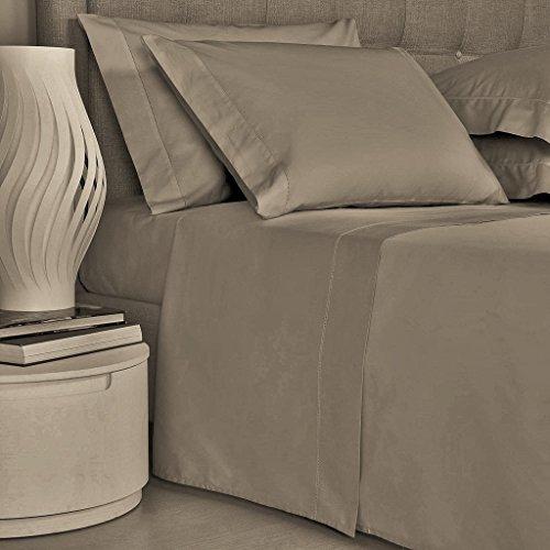 Mayfair Linen Bedding Collection 600 Thread Count Bedspread 100% Egyptian Cotton Sheet Set Sateen Weave Deep Pocket Premium Quality Bedding Set Taupe Twin - Set 100% Cotton