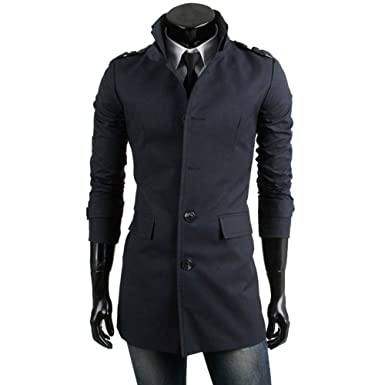 Bestow Chaqueta de los Hombres Cálido Trinchera de Invierno Botón Largo Outwear Abrigo Elegante Abrigo Chaleco Sudadera Suéter: Amazon.es: Ropa y accesorios
