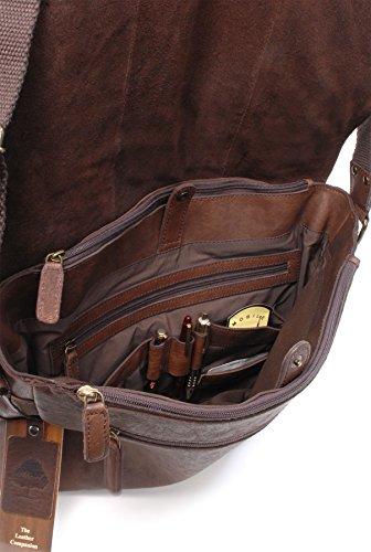 Umhängetasche / für Laptop geeignete Tasche Pedro von Ashwood - GRÖßE: B: 39 H: 28 T: 10 cm Braun