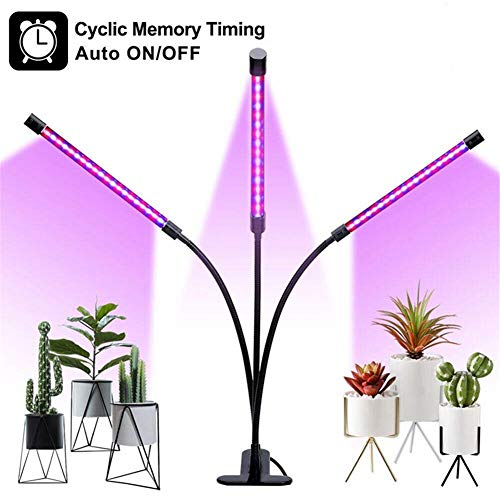 SXDD Grow Light, 30W LED Grow Lamp Bulbs Plant Growing Lights Timing Full Spectrum, Auto ON & Off 3/6/12H Timer, 5 Dimmable Levels Clip-On Desk Adjustable Gooseneck for Indoor Plants