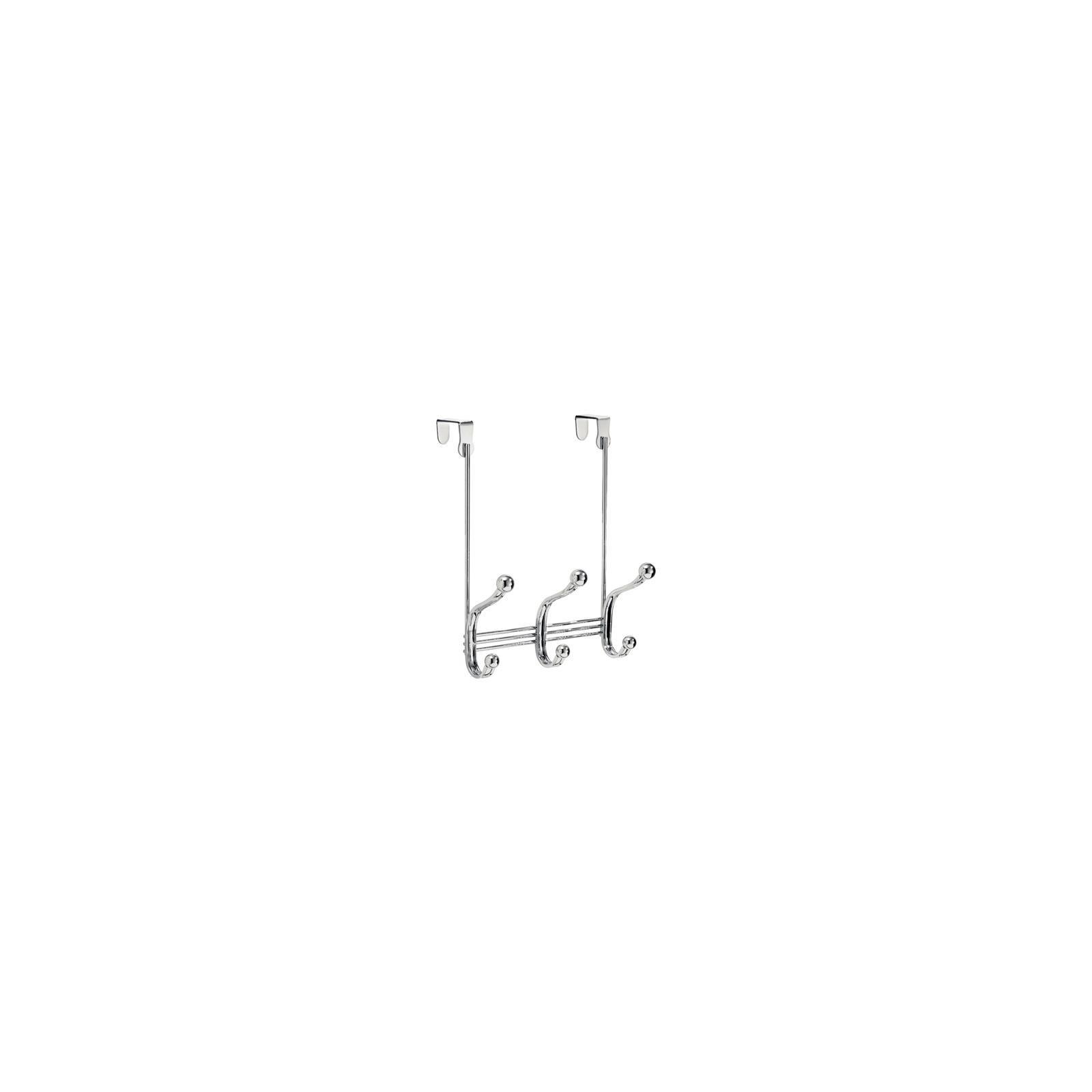 InterDesign 53070 3-Hook Over-The-Door Rack - Quantity 4