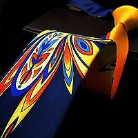 Shlax & Wing Mens Neckties Ties Printed Geometric Multicolor Silk New