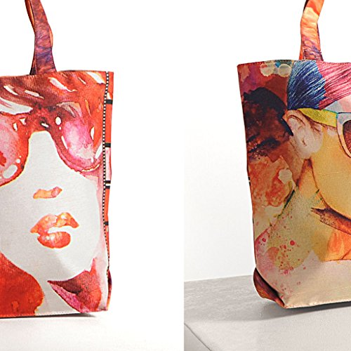 Fashion Handbags Yuga Trendy Inches Scarf Digital Printed Bags Women 16 11 Multipurpose Multicolour X Shopping With grIaErqS
