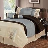 Bedford Home Samantha 7-Piece Embroidered Comforter Set, King