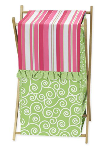Sweet Jojo Designs Baby/Kids Clothes Laundry Hamper for for Pink and Green Olivia Bedding