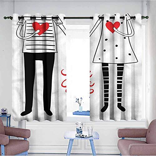 VIVIDX Kids Curtains,Wedding,Save The Date Lettering,for Bedroom Grommet -