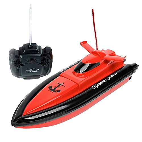 Babrit F1 High Speed RC Boat Remote Control Electric Boat-Red (Only Works In Water)