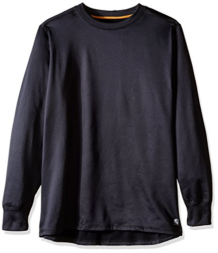 Carhartt Men's Big & Tall Base Force Extremes Super-cold Weather Crewneck Sweatshirt, Black, X-Large/Tall ()