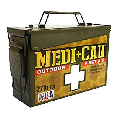 Be Smart Get Prepared 270-Piece Medi+Can First Aid and Advance Wound Care Kit by Total Resources International (TRI)