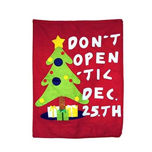 Ivenf Extra Large Felt Fleece Christmas Bag Gift Wrap