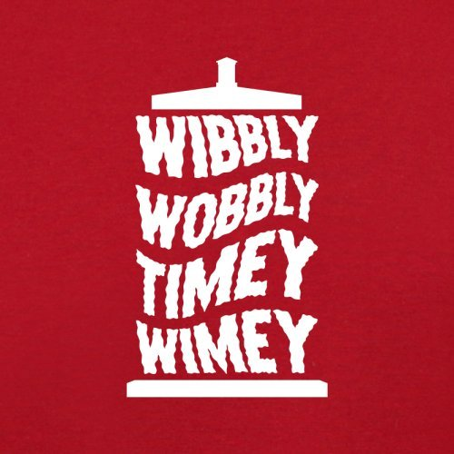 Wibbly Dressdown Flight Black Wimey Timey Wobbly Red Retro Bag OpdqpBw