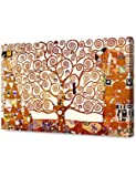 "DecorArts - The Tree of Life by Gustav Klimt. World Classic Oil Paintings Reproduction. Giclee Print On Canvas. Stretched canvas gallery wrap. 24x16""."