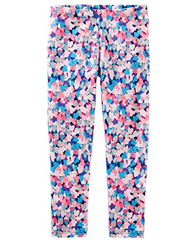 Pink Sparkly Leggings - OshKosh B'Gosh Girls Heart Leggings; Pink/Blue/Sparkly