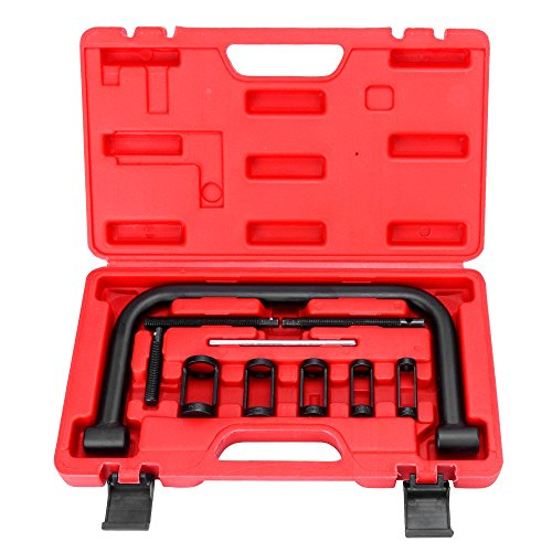 5 Engine Valve (HG Valve C Clamps Spring Compressor Automotive Repair Tool for Motorcycles, ATVs, Cars, Small Engines)