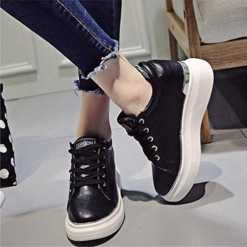 KHSKX-Die Neue Straße Im Herbst Einen Dicken Schuh Die Koreanische Version Des Wilden Beiläufige Schuhe Schwarz Steigende Flut Und 38 Frauen Schuhe