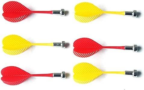 Pack de 6 Dardos magneticos en 2 Color de iman Dartboard Dartboard: Amazon.es: Deportes y aire libre