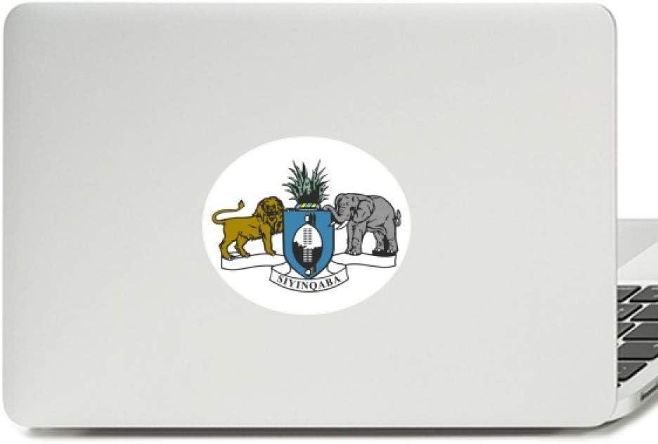 Swaziland Africa National Emblem Vinyl Emblem Graphic Laptop Sticker Notebook Decal